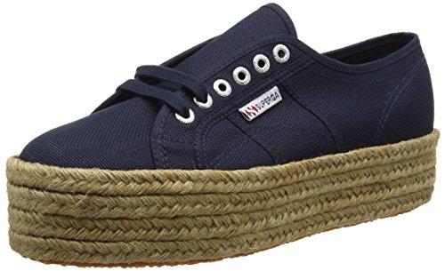 Superga 2790 COTROPEW - Zapatillas Mujer, Azul (Navy), 39
