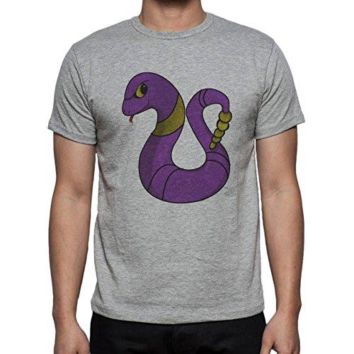Pokemon Ekans Snake Poison Small Herren T-Shirt Grau