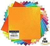 StyleTech x Turner Moore Edition - Fogli adesivi in vinile con glitter, 30,5 x 30,5 cm, per Silhouette Cameo, Maker Explore, adesivi, bicchieri, bicchieri + due esclusivi 12 x 12 cm