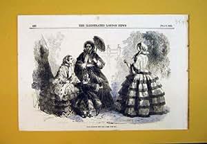 La Mode 1856 de Paris Habille le Parapluie d'Enfants de Femmes