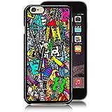 Hoonigan Ken Block Smiley Graffiti Skin protectora de goma Negro para iPhone 4/4S, 5/5S, 5C y 56/6S +, negro, iPhone 5/5S