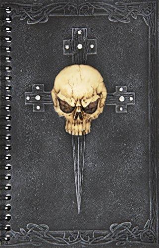 Design Toscano Gothic-Totenschädel auf Kreuz, Geheimes Tagebuch