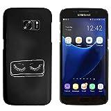 Schwarz 'Falsche Wimpern' Hülle für Samsung-Galaxie S7 (MC00048247) - Best Reviews Guide