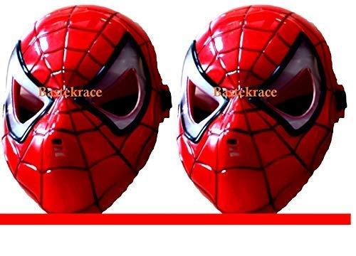 Bastekrace Neues Spider Man Masken Set mit LED Beleuchtung für einen Erwachsenen und EIN Kind