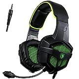 [Sades 2016 Multi-Platform New Xbox uno PS4 Gaming Headset], SA-807 verde Gaming Headset cuffie Gaming per New Xbox uno / PS4 / PC / Laptop / Mac / iPad / iPod (Nero / Verde)