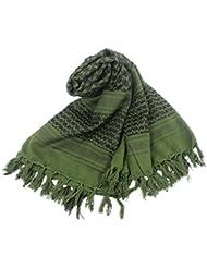 V-SOL Bufanda árabe Estola Pañuelo Chal Cuadrado 110*110cm Para Senderismo Unisex (Verde)