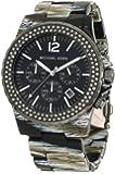 Michael Kors Women's Madison MK5599 Black Stainless-Steel Quartz Watch with Black Dial