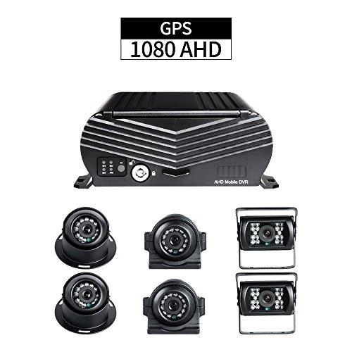Preisvergleich Produktbild Sicherheit 8CH LKW DVR,  GISION AHD 1080N MDVR 2TB Zyklus,  der GPS-Bahn G-Sensor I / O Alarm mit 6pcs AHD 2.0MP IR Nachtsicht-Kameras für Bus-Anhänger-Fahrzeug aufzeichnet
