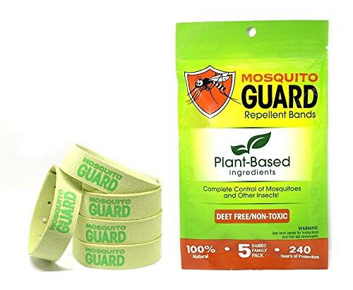 Mosquito Guard Abweisend Armbänder / Bug Bands (5er Pack) 100 % reisen alle natürlichen Citronella Zitronengras Öl, ungiftig