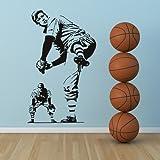 Jugador de beisbol deportes y pasatiempos arte de pared arte de pared adhesivo 01 - 50cm Altura - 50cm Ancho - Negro Vinilo