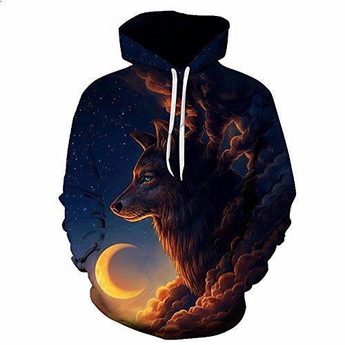 New Fashion Men Women 3d Hoodies Print Nightfall Trees Designed 3d Sweatshirts Unisex wolves Popular Hooded