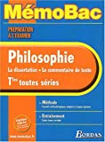 MEMO PREPA EXAM PHILOSOPHIE TERM (Ancienne Edition)