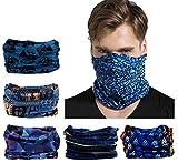 Cinta deportiva - Elástica y multifuncional - Resistente a la radiación UV - Sin costuras - Apta como pañuelo y braga de cuello
