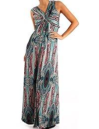 Damen Maxikleid Bodenlanges Kleid Strandkleid