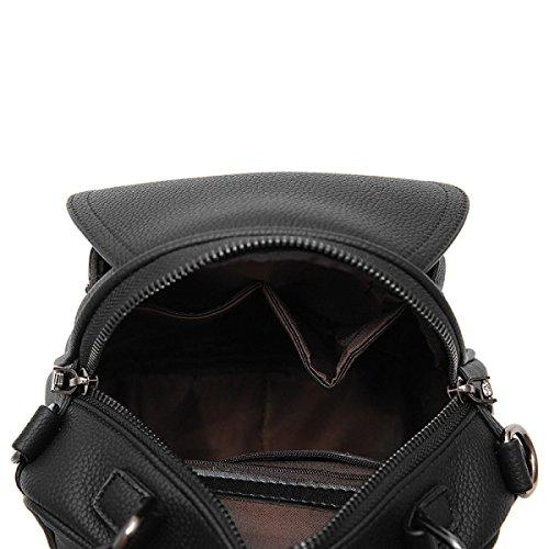 Damen PU Handtasche Wilde Schultertasche Diagonale Paket Einfache Mode Handtaschen Blue