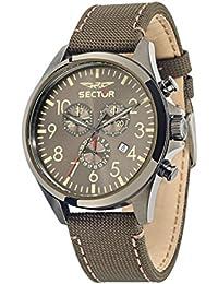 Sector Herren-Armbanduhr 180 Chronograph Quarz Leder R3271690021