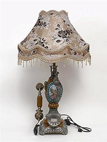 Euro radio radio lumières Chambre à coucher lampe de table antique téléphone téléphone