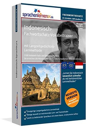 Indonesisch-Fachwortschatz-Vokabeltrainer mit Langzeitgedächtnis-Lernmethode von Sprachenlernen24: 2100 Vokabeln und Redewendungen. PC CD-ROM + MP3-Audio-CD. Für Windows 10,8,7,Vista,XP/Linux/Mac OS X