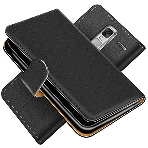 Conie Handytasche für LG Class Cover Schutzhülle im Bookstyle aufklappbare Hülle aus PU Leder Farbe: Schwarz