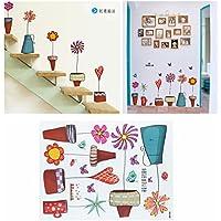 Bazaar 40x 60cm Baby Glas Fenster Aufkleber Schmetterling Handwerk Blume der Comic-Label DIY die Dekoration der Wand des vierten Raum im Haus