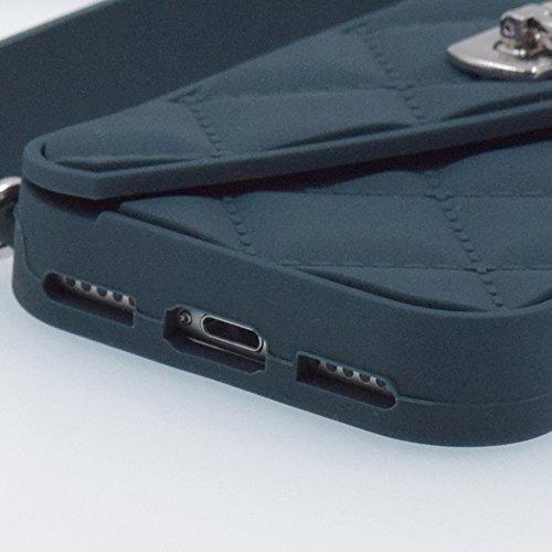 iPhone 6/6S 4.7 Hülle, BENKER Multifunktions-Upscale Stoßdämpfend Silikon TPU Geldbörse Telefon Fall Schutzhülle Für und Ketten Schulterriemen - Schwarz Dunkelgrüner