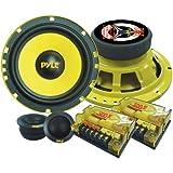 PYLE PLG6C Passiv Lautsprecher + 16,5cm (6,5'' Zoll) + 400 Watt + Gelbe Lautsprecher/Speaker + Com