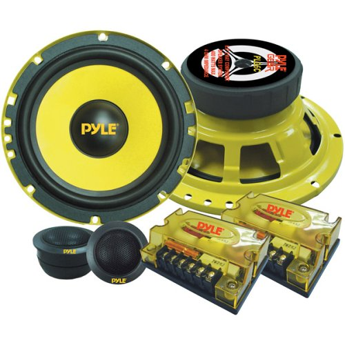 Pyle PLG6C Passiv Lautsprecher + 16,5cm (6,5'' Zoll) + 400 Watt + Gelbe Lautsprecher/Speaker + Com (Pa-lautsprecher Car-audio)