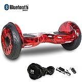 HoverBoard/Skateboard/Gyropode Éléctrique Auto-équilibrage Bluetooth Scooter Trottinette Électrique 10 Pouces,Pneu Gonflable Cool&Fun JUNMA (Fire)