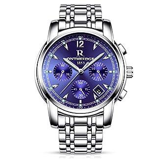 RORIOS-Business-Uhren-Analog-Quarzuhr-Kalender-Edelstahl-Metallarmband-Leuchtend-Armbanduhr