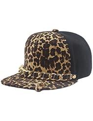 Chapeaux Casquette Snapback réglable casquette de baseball hip-hop Punk Rock, Style Léopard Noir