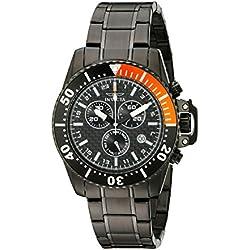 Invicta 11290 44mm Black Steel Bracelet & Case flame fusion Men's Watch