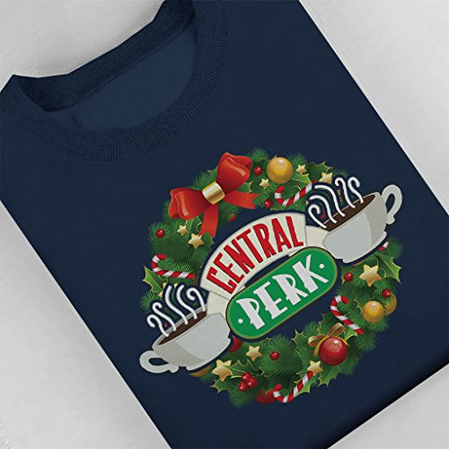 Friends Central Perk Christmas Wreath Women's Sweatshirt Navy blue