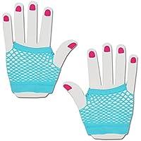 travestimenti, breve Fishnet guanti (blu)