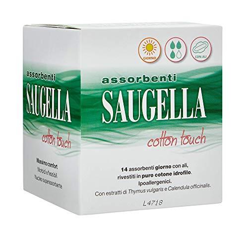Scopri offerta per Saugella Cotton Touch assorbenti esterni giorno ad azione antiodore con ali in cotone ipoallergenici 14 pezzi