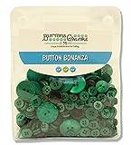 Botones Galore botón de Bonanza, plástico, Verde, 4x12.5x15.5 cm