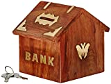GREENTOUCH CRAFTS Handicrafted Wooden Money Bank Kids Piggy Coin Box Gifts Butterfly Home