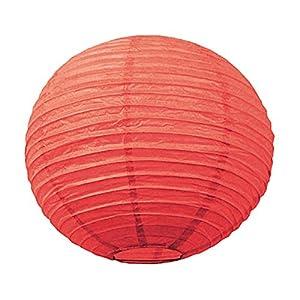 Tim & Puce 502115S - Farolillos japoneses (15 cm), Color Rojo