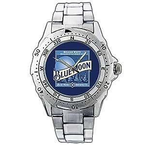 Hommes Montres bracelet FRE01-1081 Blue Moon Beer Logo Stainless Steel Wrist Watch