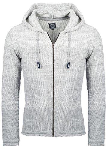 Carisma Herren - Strickjacke 7397 Streetwear Menswear Autumn/Winter Knit Knitwear Sweater Hoodie Jacket CRSM CARISMA Fashion Grey