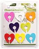 Glasmarkierer Glasmaker 8 tlg Herz Sonne oder Glas Glasmarkierung für