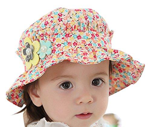 Kinder Sonnenhut Fischer Hut Frühling Sommer Baby Mädchen Prinzessin Hut Blumenmuster Baumwolle Sonnencreme UV Cowboy-Hut