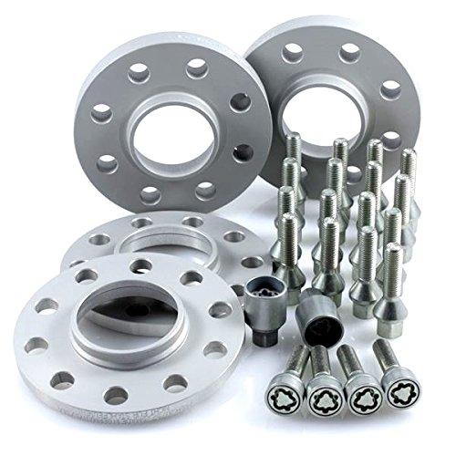 Preisvergleich Produktbild TuningHeads/H&R .0438067.DK.75726-10-13 ABE Spurverbreiterung, VA 20 mm/HA 26 mm + Radschrauben + Felgenschlösser