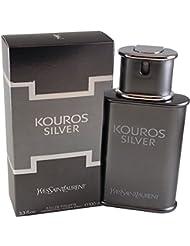 Yves Saint Laurent Kouros Argent 100ml Eau de toilette en vaporisateur pour lui avec sac cadeau