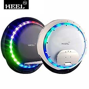 HEEL-TG auto équilibrage scooter électrique monocycle Scooters avec lumière LED et Bluetooth Speaker 264WH (noir)