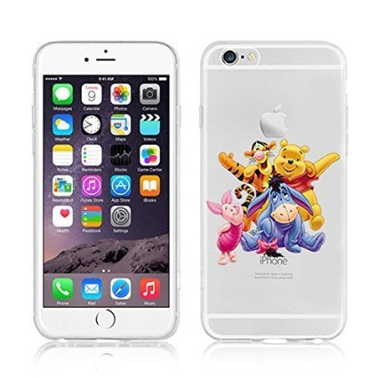 Disney Winnie Puuh & Freunde TPU-Soft-Case-Schutzhülle für Apple iPhone 6/6S & 6+ 6+ S, plastik, Eeyore, APPLE IPHONE 6/6S WINNIE & FRIENDS