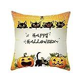 Halloween Dekoration HUYURI Kürbis Schwarze Katze Auto Bett Sofa Kissenbezug Kissenbezug