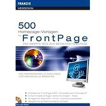 500 Homepage-Vorlagen für FrontPage. CD-ROM für Windows. Der smarte Weg zu bessseren Homepage