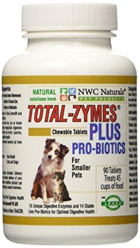 NWC Naturals total de zymes Plus-90Pastillas (1Tablette tratadas 1/2taza Animales Alimentos) enzimas y probiotika para pequeños perros y gatos