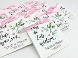 Gastgeschenk zur Hochzeit Personalisiert inkl. Blumensamen