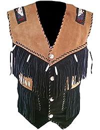 Classyak pour Homme Cowboy Gilet de Cuir en Daim de Haute qualité 258d7c670b72